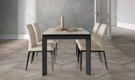 Mesa comedor Extensible con opción patas Metálicas o Madera y Tapa cerámica Ref Q167000