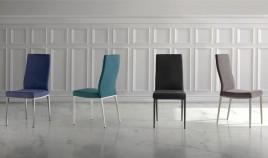 Moderna silla Tapizada con estructura metálica Ref Q131000