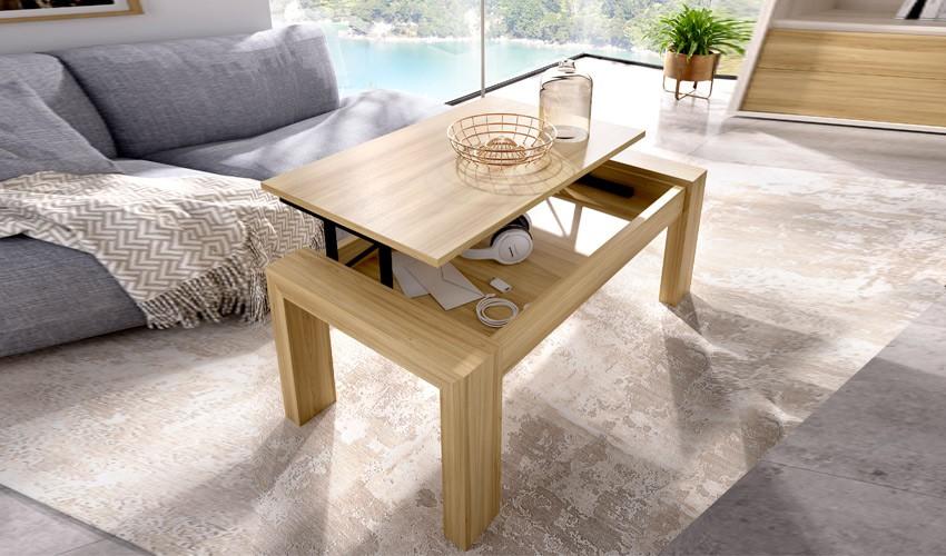 Mesa de Centro elevable con diferentes colores a elegir Ref Y15000