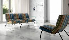 Butaca de diseño tapizada con estructura metálica Ref Q205000
