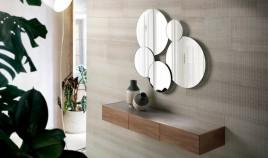 Conjunto recibidor con consola y espejo con detalle porcelánico Ref Q214000