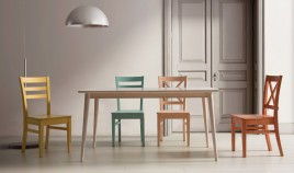 Mesa de Comedor fabricada en madera de Pino Ref JI10001