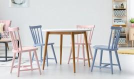 Mesa de Comedor redonda fabricada en madera de Pino Ref JI10002