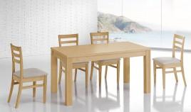 Mesa de Comedor fija fabricada en madera de Pino Ref JI10011