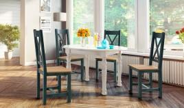 Mesa de Comedor redonda Extensible fabricada en madera de Pino Ref JI10015