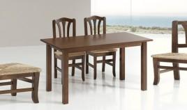 Mesa de Comedor fija fabricada en madera de Pino Ref JI10016