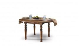 Mesa de Comedor redonda Extensible fabricada en madera de Pino Ref JI10025