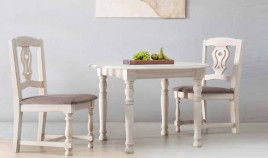 Mesa de Comedor redonda Extensible fabricada en madera de Pino Ref JI10026