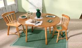 Mesa de Comedor redonda Extensible fabricada en madera de Pino Ref JI10013