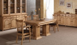 Mesa de Comedor Extensible de estilo Provenzal fabricada en madera de Pino Ref JI10024