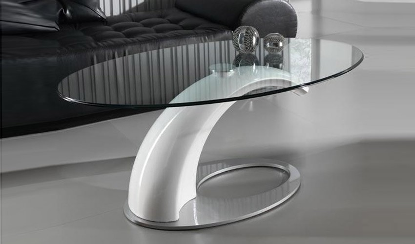 mesa de centro de dise o con tapa cristal
