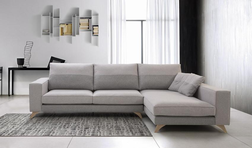 MT51000 Sofá chaiselongue con asientos viscoelásticos disponible tambien en 4, 3, 2 y 1 Plazas