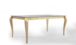 Mesa de Comedor de Diseño Extensible con Cristal Ref L21100