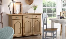 Aparador fabricado en madera de Pino disponible en diferentes tamaños Ref JI10040