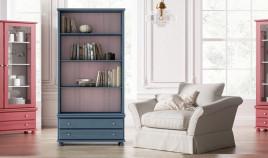 Librero estilo provenzal fabricado en madera de Pino Ref JI10044
