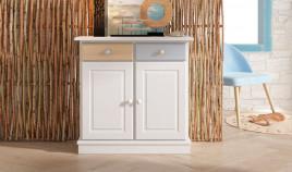 Mueble taquillón con cajones y puertas estilo provenzal fabricado en madera de Pino Ref JI10050