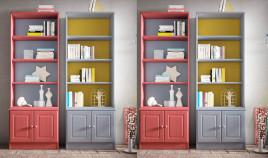 Librero fabricado en madera de Pino disponible en diferentes acabados Ref JI10058