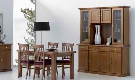Aparador con librería fabricado en madera de Pino Ref JI10077