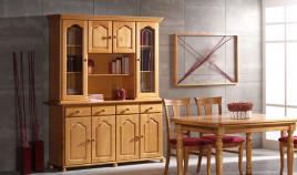Aparador con librería estilo provenzal fabricado en madera de Pino Ref JI10082