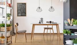 Mesa comedor de madera con tapa lacada Ref IX35000