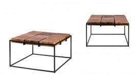 Mesa de centro de estilo étnico con tapa en madera Ref IX42000