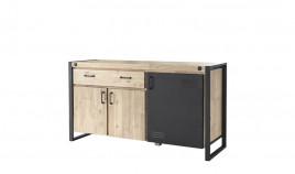 Aparador de estilo industrial fabricado en madera de Acacia y metal Ref IX51000