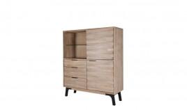 Librero bajo fabricado en madera de Acacia y metal Ref IX57000