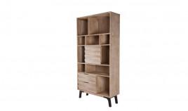 Librero alto fabricado en madera de Acacia y metal Ref IX58000