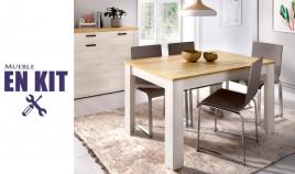 Mesa de comedor extensible disponible en diferentes colores Ref YK10000