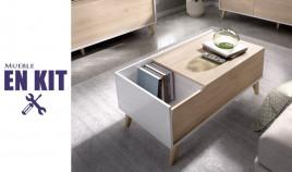 Mesa de centro elevable disponible en 2 colores Ref YK12000