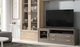 Módulo bajo televisión fabricado en madera de Pino Ref JI10095