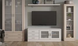 Módulo bajo televisión fabricado en madera de Pino Ref JI10096