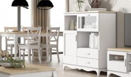 Aparador disponible en diferentes configuraciones fabricado en madera de Pino Ref JI10104