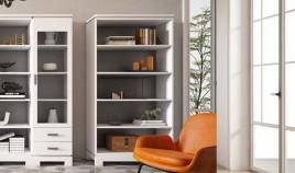 Librero fabricado en madera de Pino disponible en diferentes tamaños Ref JI10107