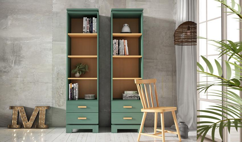 Librero fabricado en madera de Pino disponible en diferentes tamaños Ref JI10108