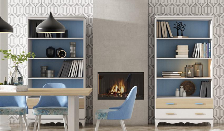 Librero fabricado en madera de Pino disponible en diferentes tamaños Ref JI10109