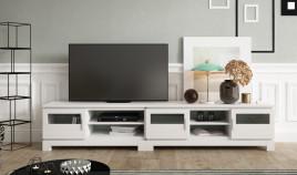 Salón comedor formado por 2 módulos bajos de televisión Ref JI100
