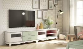 Salón comedor formado por 2 módulos bajos de televisión Ref JI105