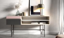 Mueble recibidor con cajones fabricado en madera de Pino Ref JI10116
