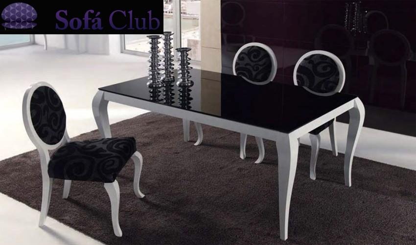 Mesa de Comedor de Diseño Extensible con Cristal