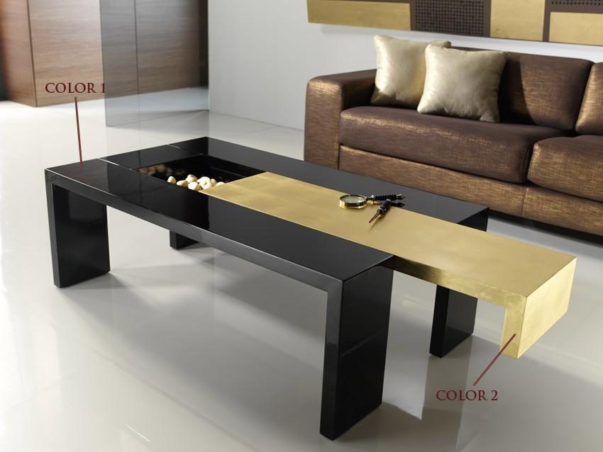 Mesa de centro de dise o con tapa deslizante - Disenos de mesas de centro para sala ...