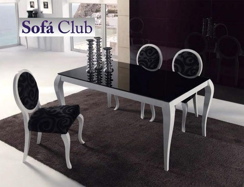 Mesa de comedor de dise o extensible con cristal for Mesas de centro de diseno de cristal