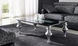 Mesa de Centro en Haya Lacada con Cristal Ref L44000