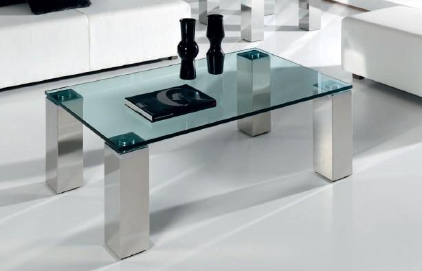 Mesa de centro con patas en acero for Patas para mesa de centro