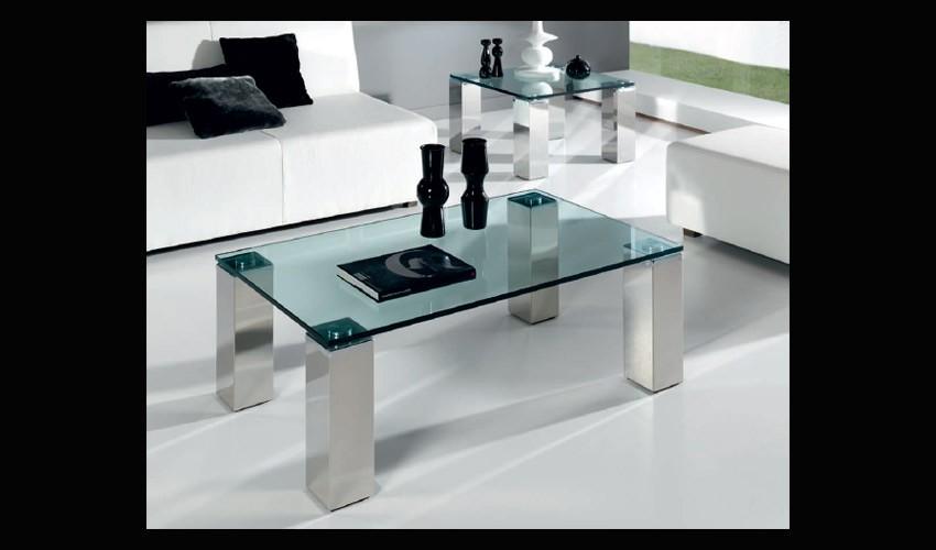 Mesa de centro con patas en acero - Patas conicas para mesas ...