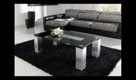 Mesa de Cristal con Patas Lacadas Ref L53000