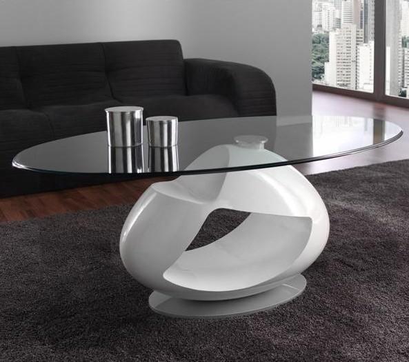 Mesa de centro de dise o con tapa cristal for Mesas de salon de cristal