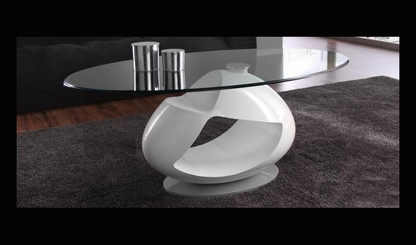Mesa de centro de dise o con tapa cristal - Mesas redondas de diseno ...