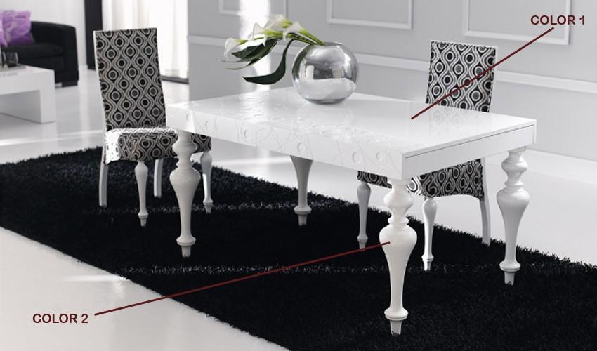 Mesa de comedor con tapa grabada y extensible - Mesas de comedor extensibles conforama ...