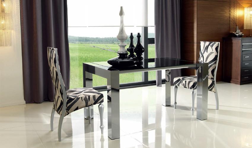 Mesa de comedor extensible en aluminio for Mesas de cristal extensibles para comedor
